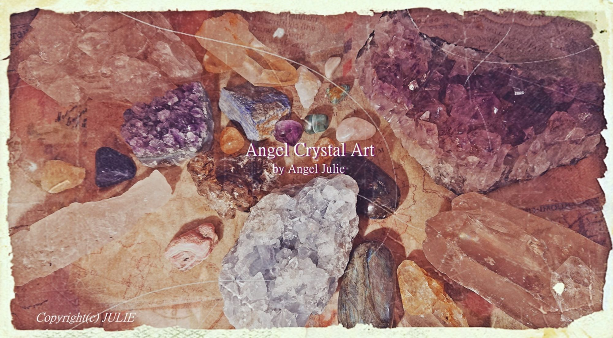 Angel Julie Healing site | Angel Crystal  Artist-The Book of Angels by Angel Julie